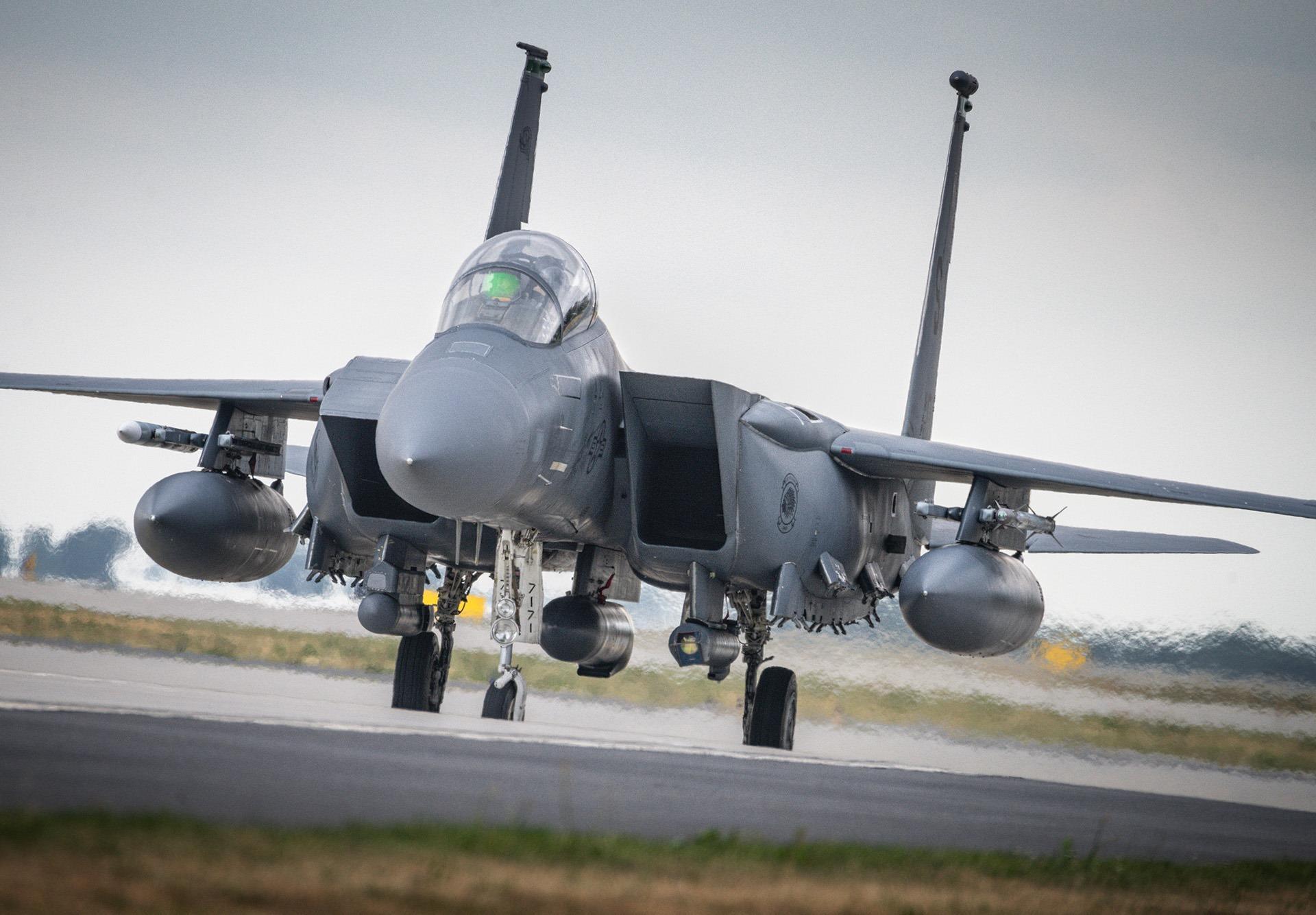 美军首次向波兰派出F35和F15战机 结果撞鸟迫降