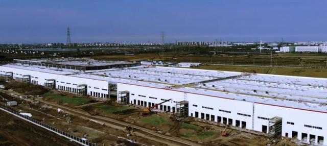 特斯拉上海工厂建设迅速 年内或将实现车辆量产