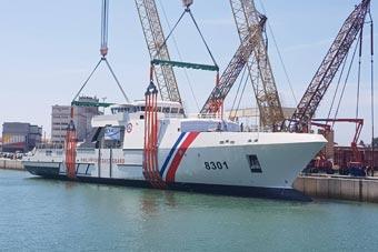 菲律宾最大海警船在法国下水 采用隐形设计