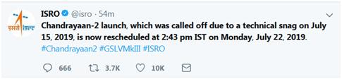 """河南地震带(baigoohoo)印度官方宣告:7月22日""""月船2号""""将从头发射"""