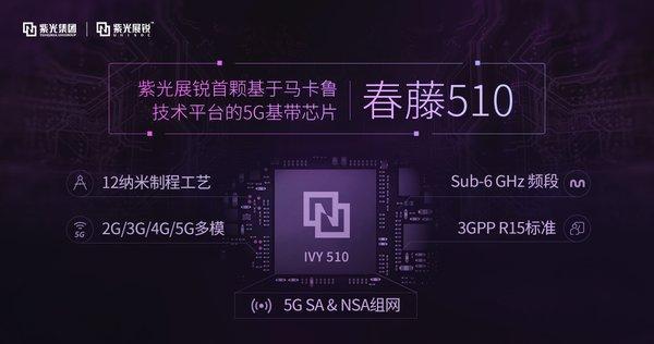 紫光展锐荣获5G突出贡献奖 5G芯片可支持SA和NAS