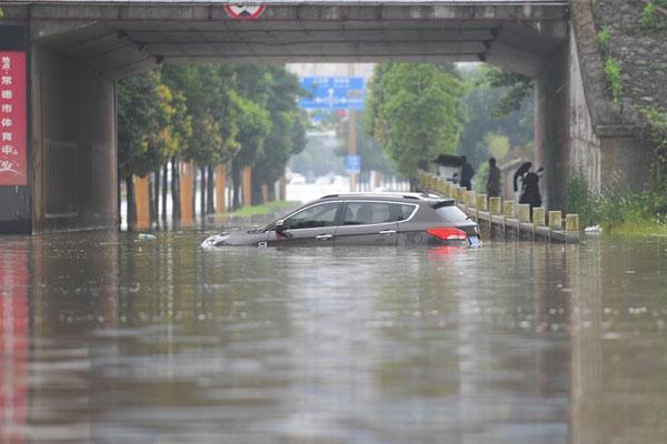 强降雨致湖南常德城区出现内涝