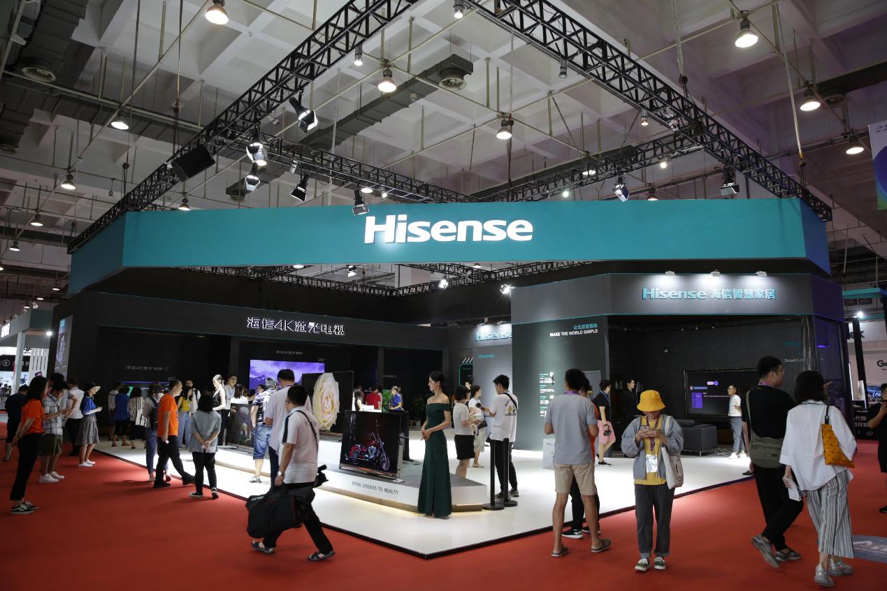 海信电视公布上半年成绩单:市场第一 技术第一 高端第一