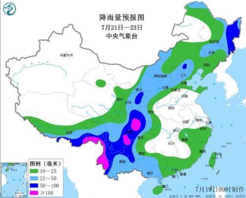 7月下旬北方及西南地区将进入雨季 需注意防汛防灾