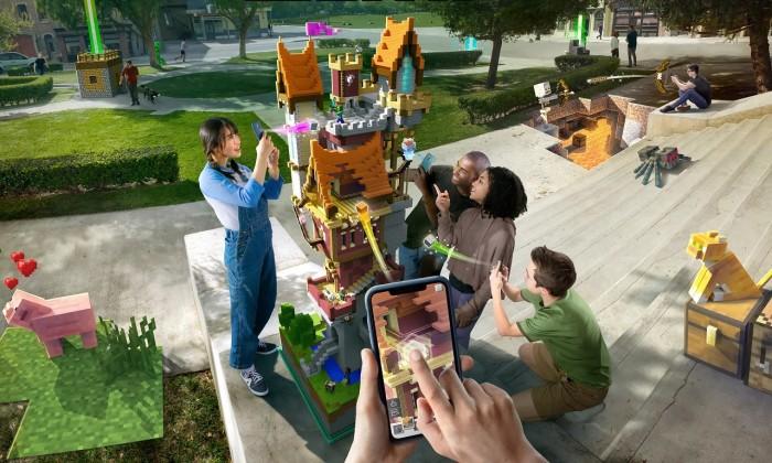 微软再次演示《Minecraft Earth》AR游戏