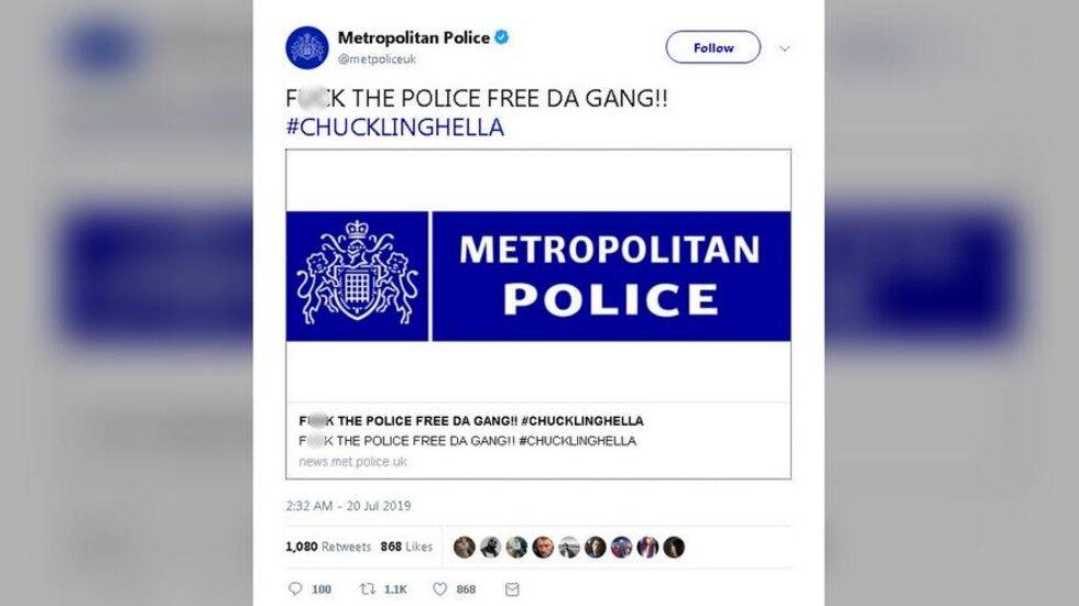 伦敦警察推特账号发文骂警察?发言人:号被盗了…