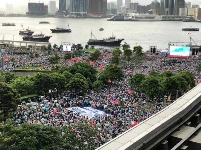 """《举世时报》社评:香港""""沉默沉静的大大都""""不会永久沉默沉静"""