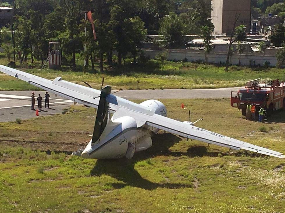 巴基斯坦一客机降落时滑出跑道 无人伤亡