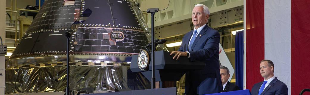 彭斯确认美国太空计划:先重返月球,然后向火星进发