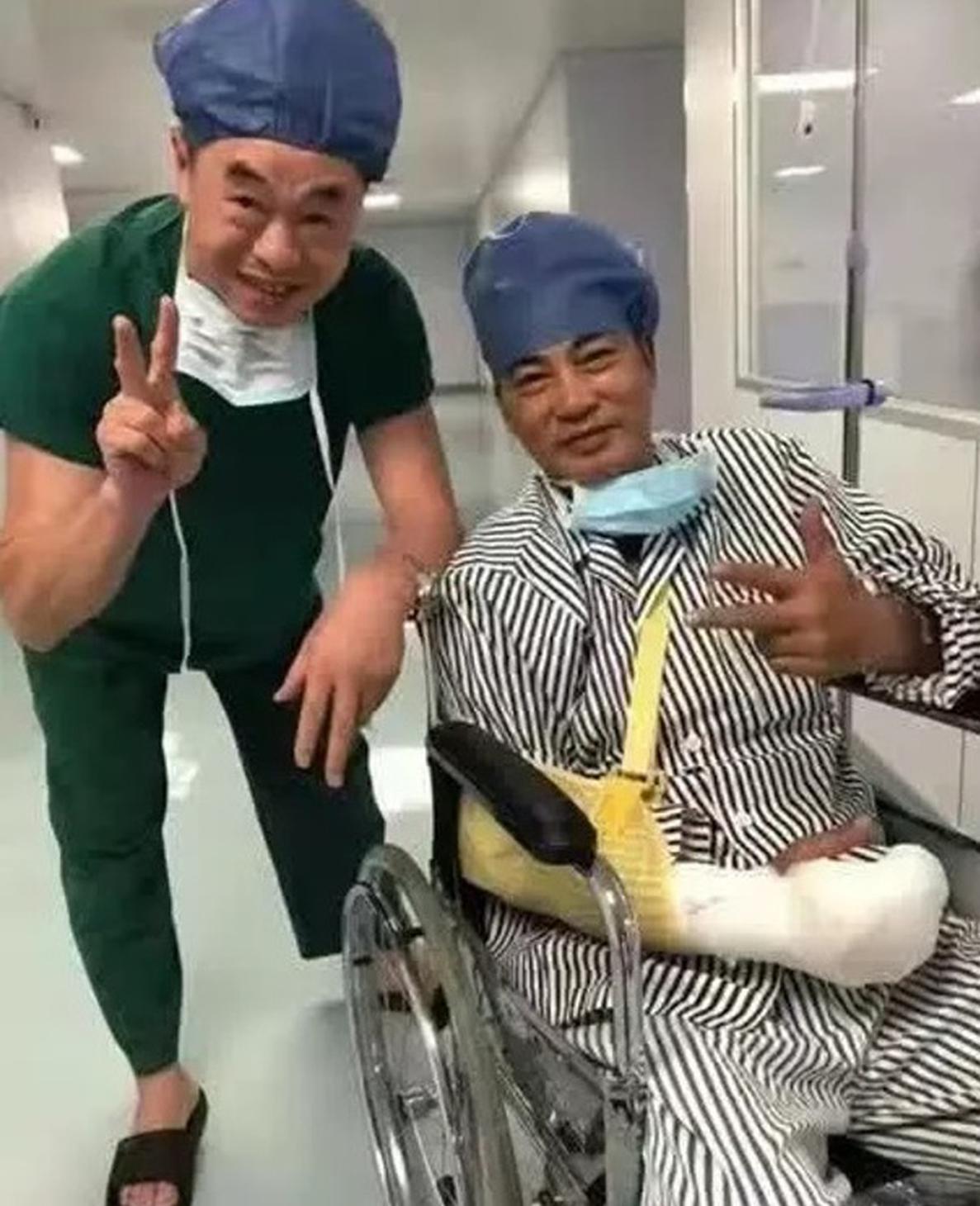 任达华手术后坐轮椅照片曝光