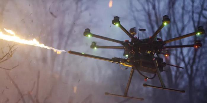 不算武器,能喷火的无人机了解一下?