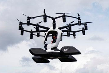 18旋翼!美国载人无人机试飞
