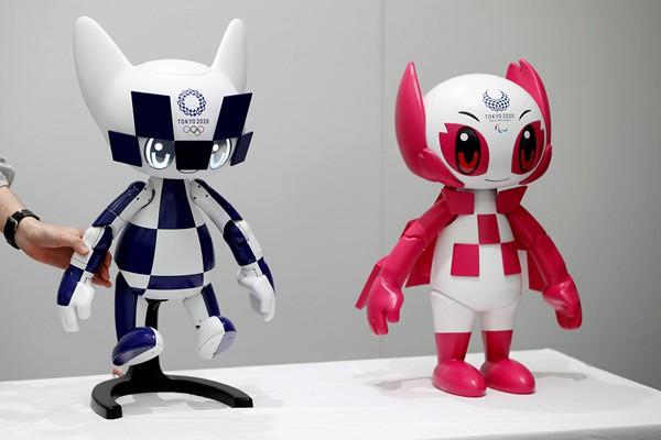 东京举行奥运会吉祥物揭幕仪式 机器人萌萌哒惹人爱