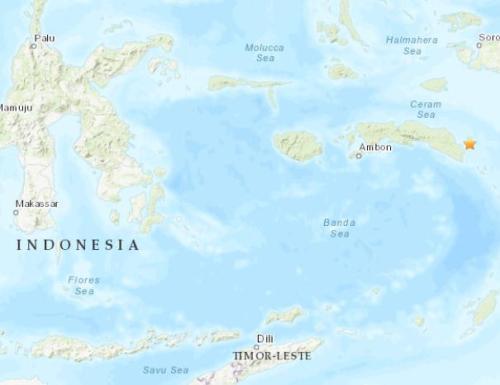 吉川雏乃完美开释顾飘印尼东部海域发作5.2级地震 震源深度25.9千米