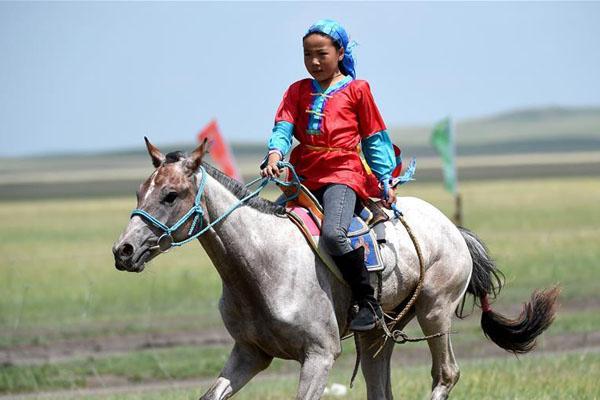 """少女骑手马背上""""飞驰""""的夏天"""