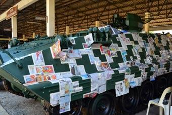 泰军为中国造装甲车换数码迷彩 旧报纸派上用场