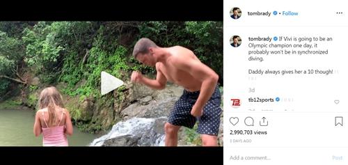 湖人买卖詹姆剑网3唐门五彩石美国橄榄球球员汤姆·布雷迪带着6岁小女儿在山崖边跳水,网友吵翻
