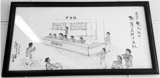 """七旬老人手绘""""肾病科十二钗""""送给病房的十二名护士"""