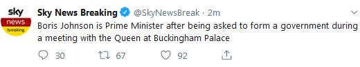 快讯!鲍里斯·约翰逊正式成为英国首相