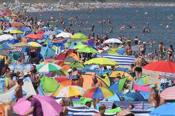 高温热浪席卷德国 部分地区气温突破40摄氏度