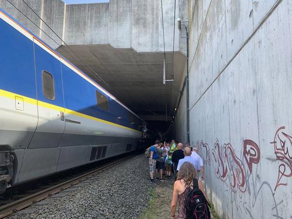 """""""欧洲之星""""列车停电 600名乘客被困40度车厢两小时"""