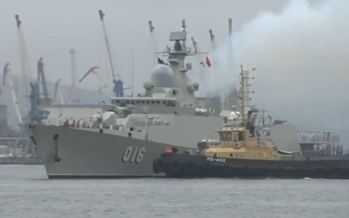 越南海军最强战舰访问俄罗斯 将参加俄海上阅兵