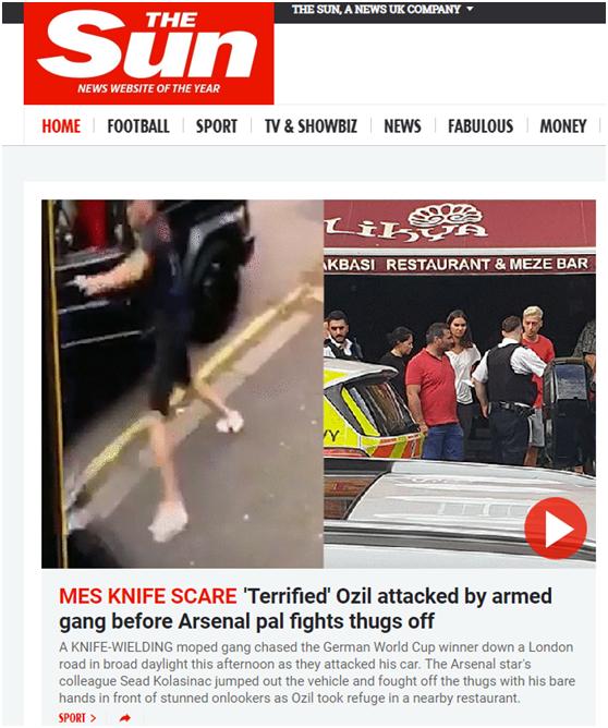乐嘉劈木板华为荣耀手机没有体系厄齐尔在伦敦被劫车后逃跑,队友跳下车赤手击溃暴徒