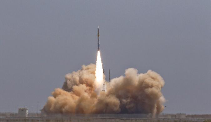 """中國民營運載火箭首次成功入軌 """"雙曲線一號""""首飛成功"""