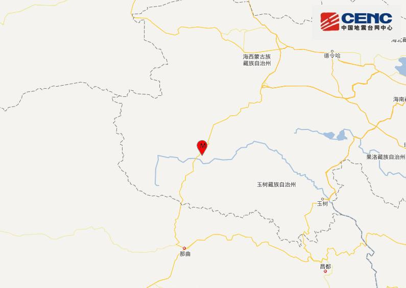 青海玉树州治多县发生4.3级地震 震源深度10千米