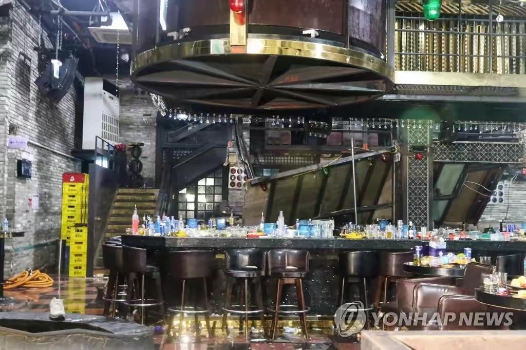 韩国光州酒吧坍塌