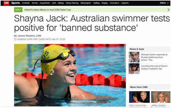 霍顿的队友栽了?澳20岁游泳金牌得主自证药检呈阳性,CNN:超尴尬