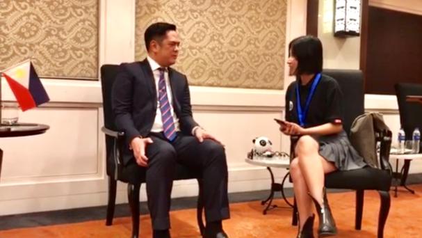 """菲总统府新闻部长希望环球网将""""一带一路"""