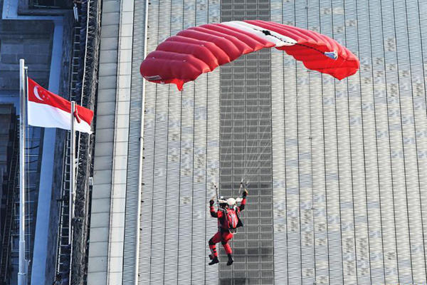 新加坡举行国庆庆典彩排