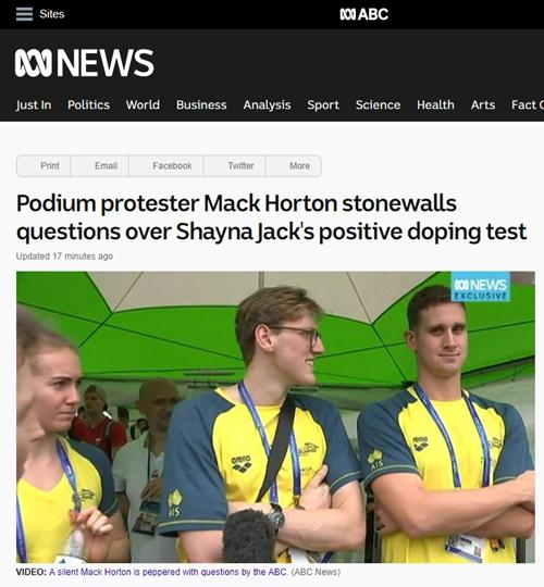 不怼了?霍顿被媒体追问队友兴奋剂丑闻,一言未发