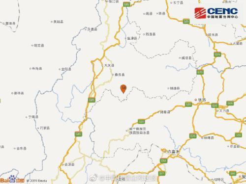 云南昭通市彝良縣發生2.8級地震 震源深度12千米