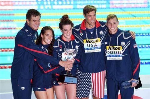 光州游泳世锦赛综述:美国一枝独秀 中国完成目标