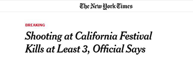 """加州""""大蒜狂欢节""""枪击案:致包括枪手在内4人死亡,惊动特朗普"""
