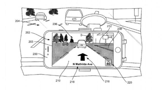 苹果申请新专利 未来或推汽车AR导航功能