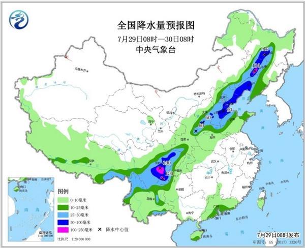 北方10省份有大雨或暴雨 南方高温持续夜温近30℃