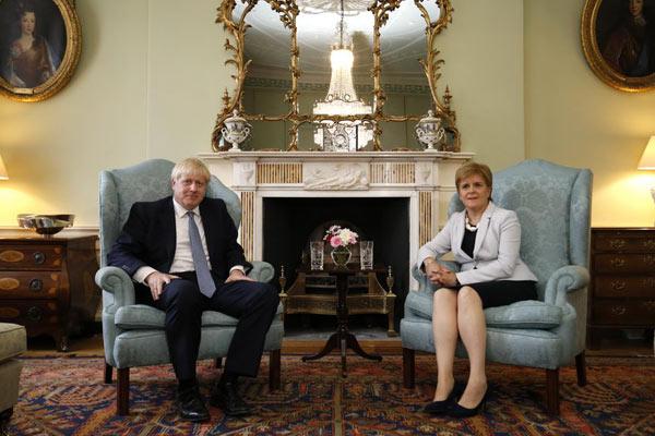 苏格兰首席部长与鲍里斯·约翰逊会晤
