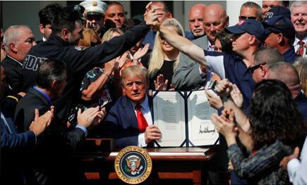 """特朗普说自己曾和9·11救援人员在一起,却遭美媒扒""""黑料"""""""