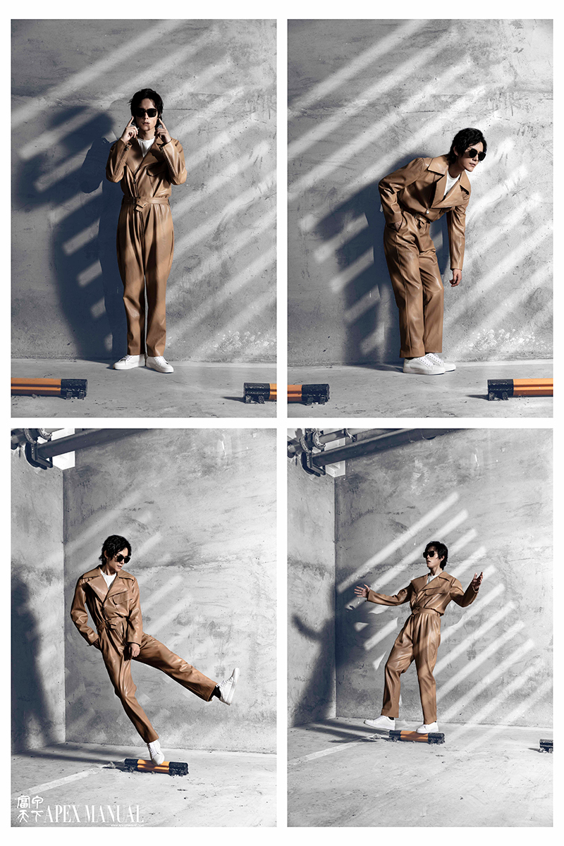 秦佳人披风三邦车张超杂志大片曝光 金属感前卫造型展示工业风健康型格