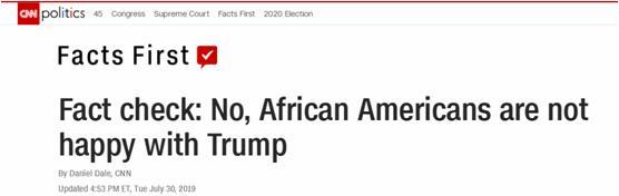 特朗普说黑人支持他骂巴尔的摩,CNN用民调数据噎了回去
