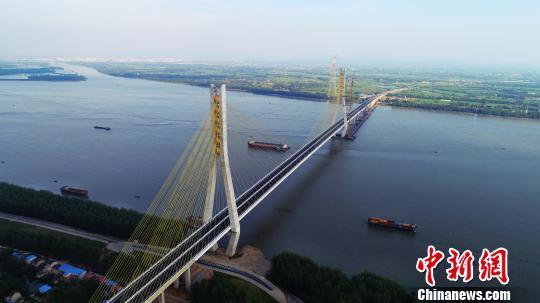 安徽池州长江大桥已具备通车条件 预计九月份正式通车