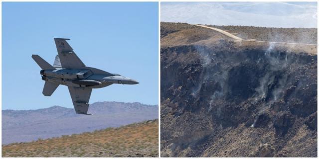 美军F-18战斗机在死谷国家公园坠毁,导致7名游客轻伤