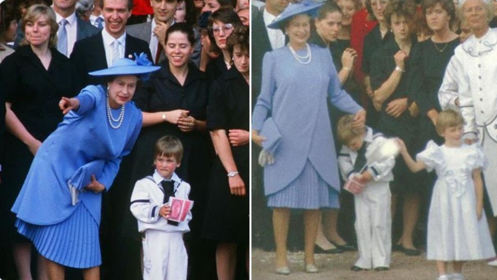 英国女王33年前罕见画面曝光:追着威廉跑,一把抓住小手(图)