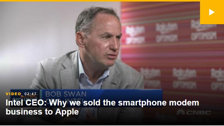 英特尔CEO:我们依然是5G领域的重要玩家