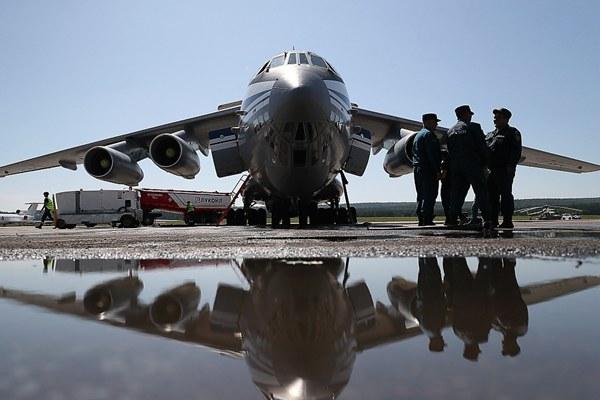 俄罗斯西伯利亚地区发生森林大火 航空队?#24230;?#28781;火