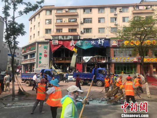 吉林市一饭店发生爆燃 多名路人受伤