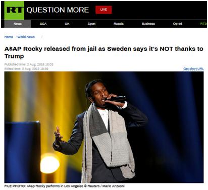 美说唱歌手在瑞典获释等判决,特朗普欢迎:尽快回家
